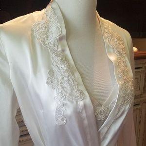 Victoria's Secret Bridal Chemise & Robe Small NEW